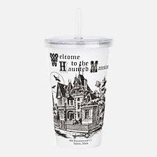 vintage Halloween haunted house Acrylic Double-wal