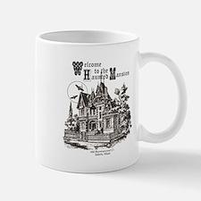 vintage Halloween haunted house Mugs