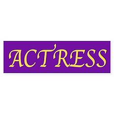 Actress (Royal Colors) Bumper Bumper Sticker