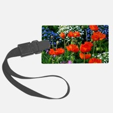 Colorful Flower Bed with Red Pop Luggage Tag