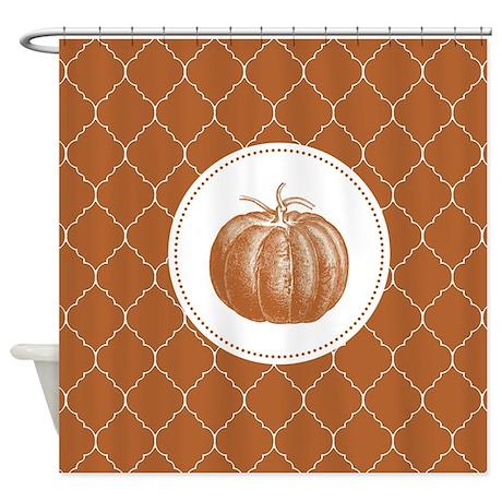 Modern Trends Pumpkin Shower Curtain By Designsbyheathermyers1