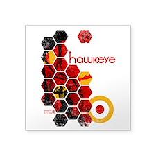 "Hawkeye Hex Square Sticker 3"" x 3"""