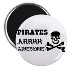 Pirates Arrr Awesome Magnet
