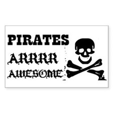 Pirates Arrr Awesome Rectangle Decal