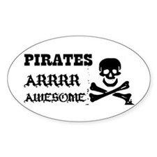 Pirates Arrr Awesome Oval Decal