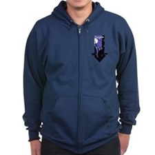 Hawkeye Down Arrow Zip Hoodie