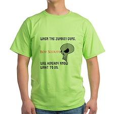 boy scouts vs zombies T-Shirt
