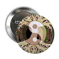 "Yin Yang Mandala 2.25"" Button"
