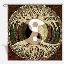 Yin Yang Mandala Shower Curtain