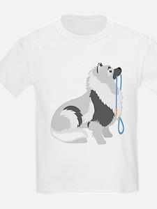 Keeshond Leash T-Shirt