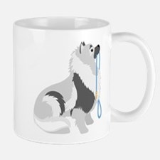 Keeshond Leash Mug