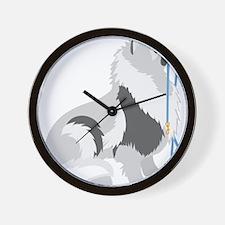 Keeshond Leash Wall Clock