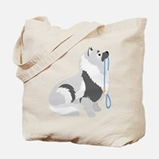 Keeshond Leash Tote Bag