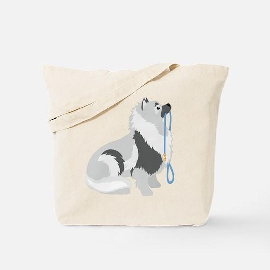 Keeshond Leash Tote Bag