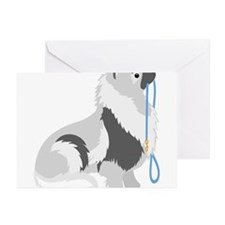 Keeshond Leash Greeting Cards (Pk of 10)
