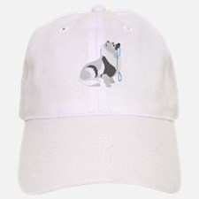 Keeshond Leash Baseball Baseball Cap