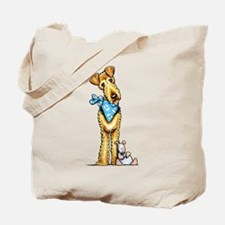 Airedale n Puppy Tote Bag