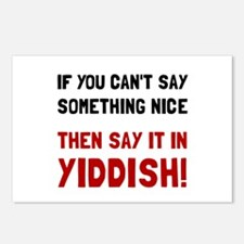 Say It In Yiddish Postcards (Package of 8)