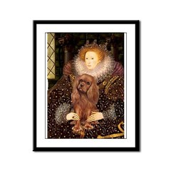 The Queen's Ruby Cavalier Framed Panel Print
