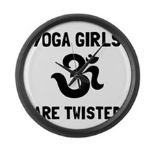 Yoga Girls Twisted Large Wall Clock