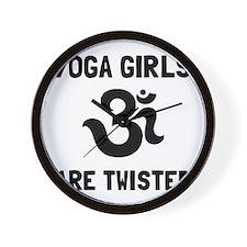Yoga Girls Twisted Wall Clock