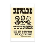 Wanted The Youngers Mini Poster Print