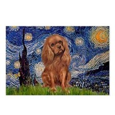 Starry Night Ruby Cavalier Postcards (Package of 8