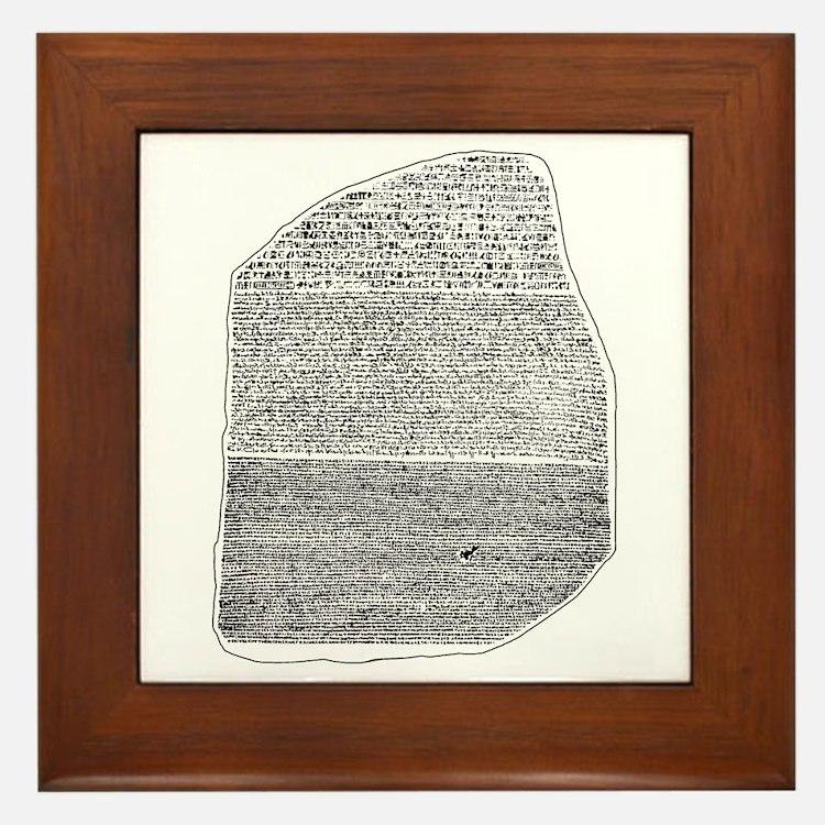 Rosetta Stone Framed Tile