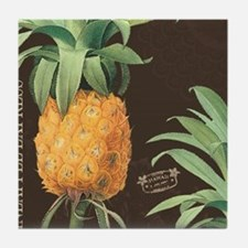 Modern vintage tropical pineapple Tile Coaster