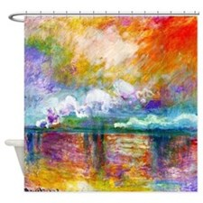 Monet - Smoke In The Fog Shower Curtain