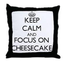 Cool Keep calm and carry on gun Throw Pillow