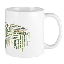 Literature's Best Books Small Mug