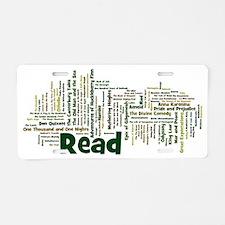 Literature's Best Books Aluminum License Plate