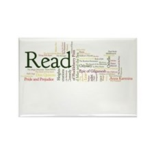 Literature's Best Books Rectangle Magnet