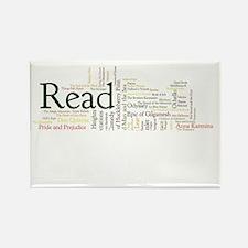 Literature's Best Books Rectangle Magnet