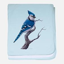 Blue Jay bird baby blanket