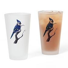 Bluejay Bird Drinking Glass