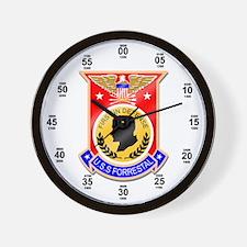 USS Forrestal CV-59 Wall Clock