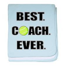 Best Coach Ever Tennis baby blanket