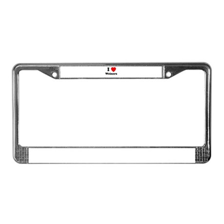 Weiners License Plate Frame