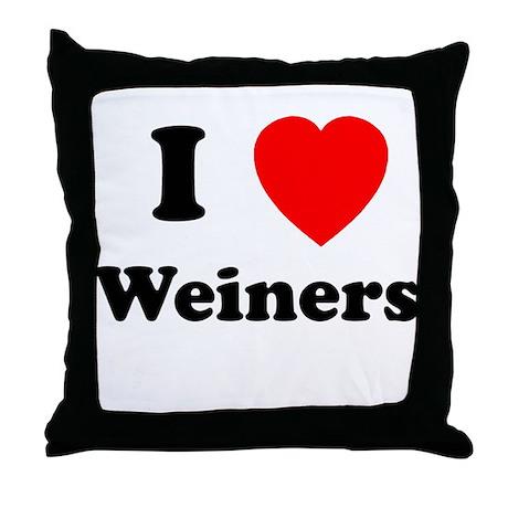 Weiners Throw Pillow
