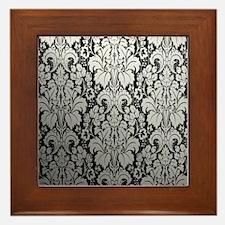 Unique Damask Framed Tile