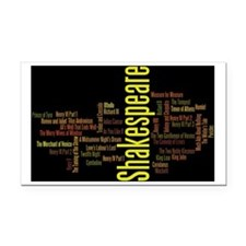 Shakespeare's Plays Rectangle Car Magnet