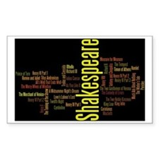 Shakespeare's Plays Decal
