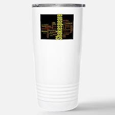 Shakespeare's Plays Stainless Steel Travel Mug