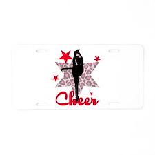 Red Cheerleader Aluminum License Plate