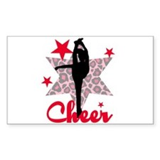 Red Cheerleader Decal