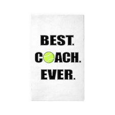 Best Coach Ever Tennis 3'x5' Area Rug