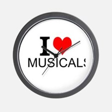 I Love Musicals Wall Clock