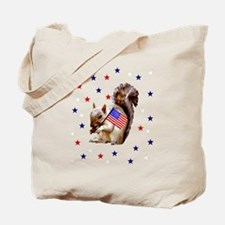 Independence Day Squirrel Tote Bag